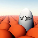 "illustration with words ""Don't Conform"""