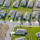 aerial view of part of a new subdivision