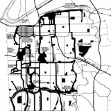 crop of Map of George Kessler's remarkable 1893 parkways and open space plan for Kansas City, Missouri.