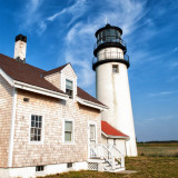 Historic lighthouse on Cape Cod