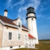 Historic lighthouse on Cape Cod