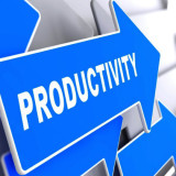"arrow with the word ""Productivity"""