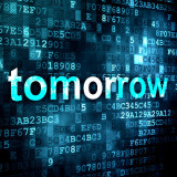 "graphic of the word ""tomorrow"""