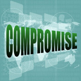 "graphic with the word ""Compromise"""