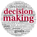 "word cloud highlighting words ""decision making"""