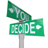"Street signs with words ""You Decide"""