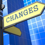 "road sign with the word ""changes"""