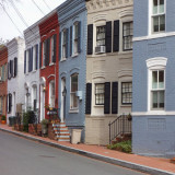houses on a block in the Georgetown Historic District in Washington, DC