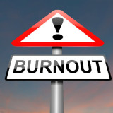 "warning sign with word ""burnout"""