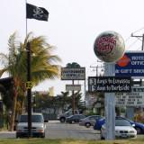 Parade of signs along U.S. 50 near Ocean City, Maryland.