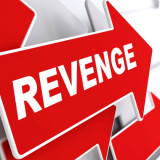 "word ""revenge"" on a red arrow"