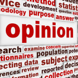graphic of the word opinion