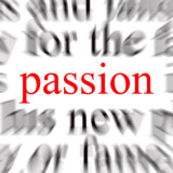"the word ""passion"" in red"