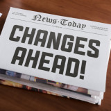 "Mock newspaper headline: ""Changes Ahead!"""