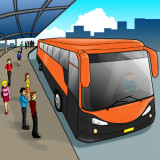 illustration of a bus transit stop