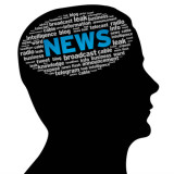 "silhouette of a head with the word ""news"" visible"