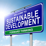 "road sign that says ""Sustainable Development"""