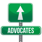 "road sign with the word ""Advocates"""