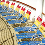 Deck chairs on a boat