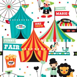 illustration of a local fair