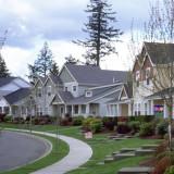 Residential street in DuPont, Washington. Photo by Wayne Senville