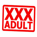 "stamp with words ""XXX Adult"""