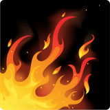 graphic illustration of flames from a fire