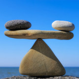 photo of two rocks in balance
