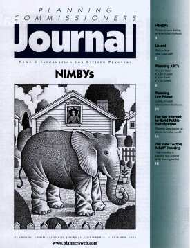 PCJ Cover illustration for NIMBYs issue