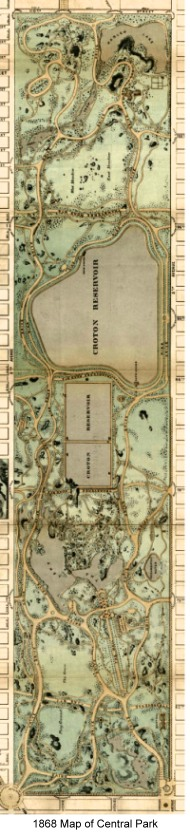 Plan for Central Park in New York City
