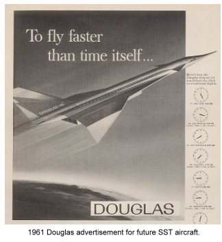 advertisement for early SST aircraft