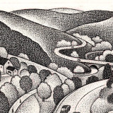 roadway winding through countryside; illustration by Paul Hoffman for PlannersWeb