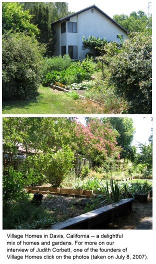 photos from Village Homes in Davis, California