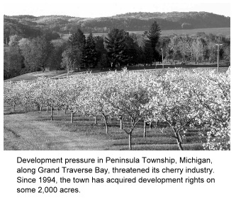 photo of farmland preserved through purchase of development rights