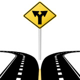 icon image of bypass highways - two roads branching off