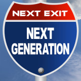 "road sign with the words ""Next Generation"""