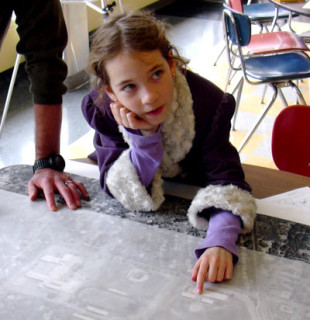 girl participating at a charrette