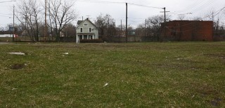 "Another view of vacant land in Cleveland's ""Forgotten Triangle"" neighborhood"