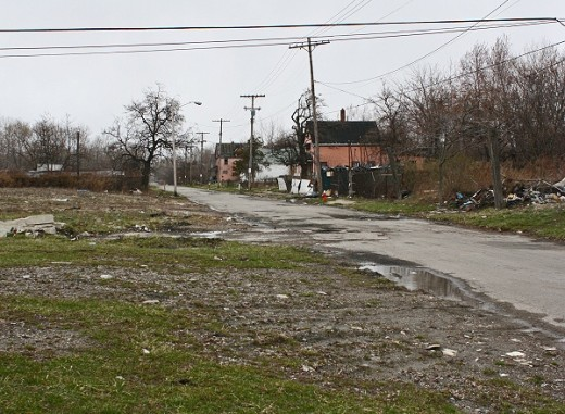 "Vacant land in Cleveland's ""Forgotten Triangle"" neighborhood"