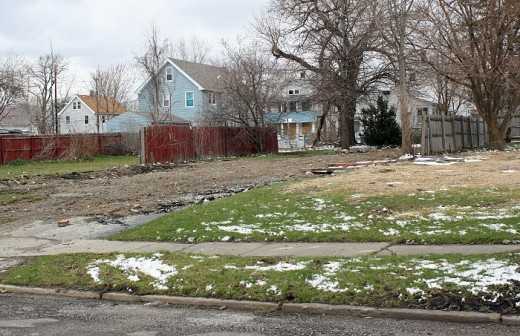 "Vacant land in Cleveland's ""Slavic Village"" neighborhood"