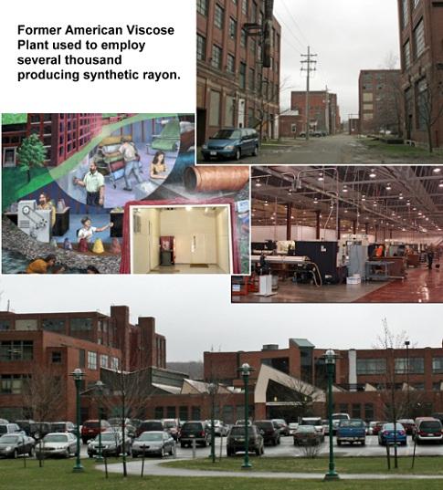 Former American Viscose plant in Meadville, Pennsylvania
