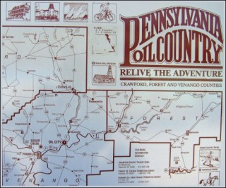 Pennsylvania Oil Country map