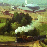 portion of George Inness painting, The Lackawanna Valley