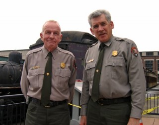 NPS Superintendent Kip Hagen (right) and Chief of Interpretation Mark Brennan (left)