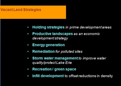 slide from a presentation on Re-Imagining A More Sustainable Cleveland.