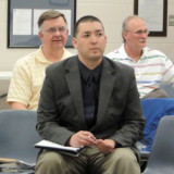 Planners at Elkhart County, Indiana, Plan Commission meeting