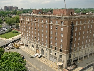 Former Durant Hotel in downtown Flint