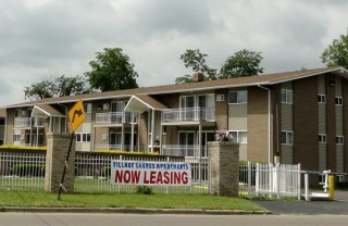 Small housing complex in Flint