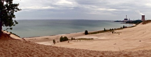 View of Lake Michigan from Indiana Dunes National Lakeshore