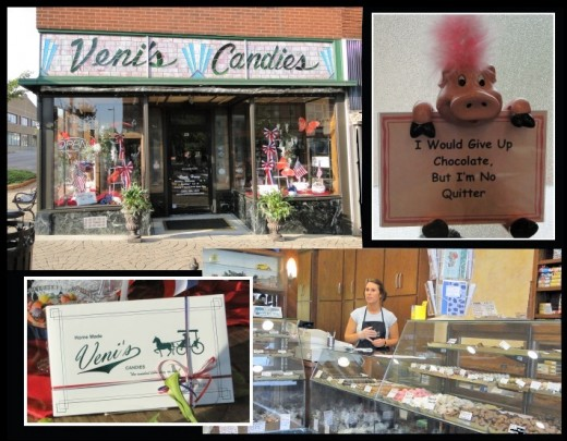 Veni's Candies in downtown Niles